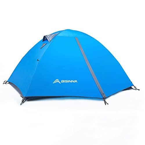 BISINNA 2/4 Person Camping Tent Lightweight Backpacking Tent Waterproof Windproof Two Doors Easy...