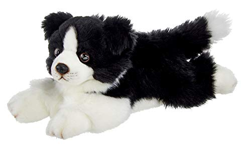 Bearington Shep Plush Border Collie Suffed Animal Puppy Dog, 13 Inches
