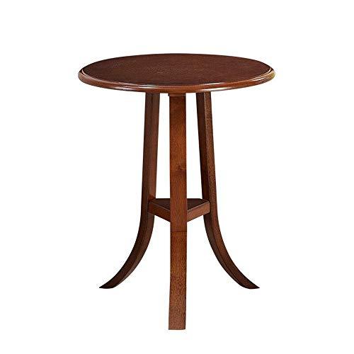 JINKEBIN Mesa plegable de café Mesas laterales para sofá, decoración de muebles modernos, mesita de noche moderna para sala de estar, balcón, hogar y oficina (color: marrón, tamaño: 50 x 50 x 60 cm)
