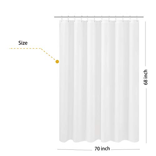 N&Y HOME Fabric Shower Curtain Liner Shorter Size 68 inches...