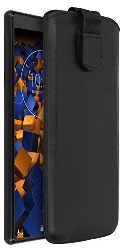 mumbi Echt Ledertasche kompatibel mit Sony Xperia 10 Hülle Leder Tasche Hülle Wallet, schwarz