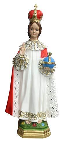 Ferrari & Arrighetti Imagen del Niño Jesús de Praga de Yeso Pintada a Mano - 50 cm