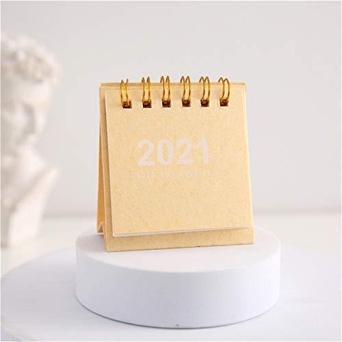 jieGorge 2021 Calendar Desk Calendar Desktop Timetable Convenient And Compact Schedule, Office & Stationery for Easter Day (Beige)