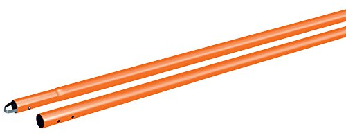 Kraft Tool CC289SO Powder Coated Aluminum 1-3/4-Inch Swaged Button Handle, 72-Inch, Orange