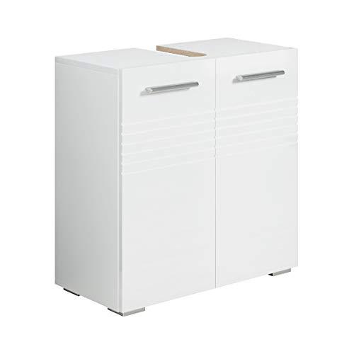 Badezimmer Badmöbel Jupiter (Weiß) - Unterschrank Badmöbelset Badschrank Schrank