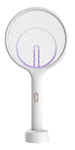 LVYE1 MRMF Matador De Mosquitos Eléctrico, Lámpara Asesina De Mosquitos, Recargable por USB, Trampa Asesina Montada En La Pared De Escritorio, Descarga Eléctrica De 3500 V con Luz