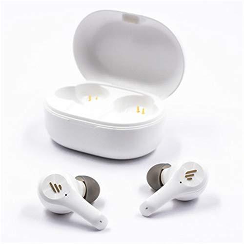 XJPB Auriculares inalámbricos Auriculares Bluetooth, Auriculares Bluetooth 5.0 con micrófonos, Bajos, a Prueba de Agua para Deportes, Blanco
