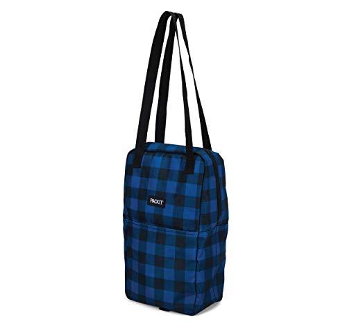PackIt AMZ-WW-NVB - Bolsa de vino doble congelable, color azul marino, poliéster exterior, interior: 100% PEVA