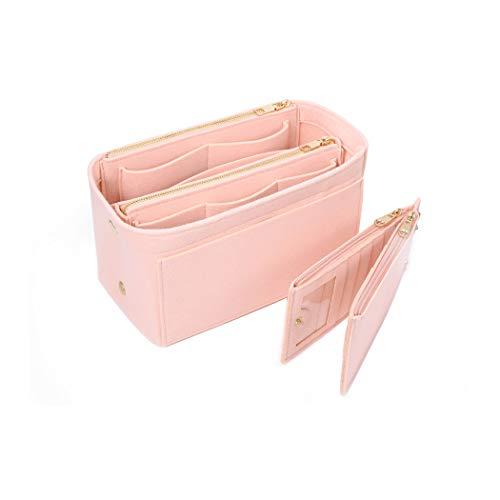 SHINGONETaschenorganizer Filz mit Kreditkartenetui, Damen Bag in Bag Handtaschen Organizermit ReißVerschluss für Neverfull Speedy, Innentaschen für Handtaschen