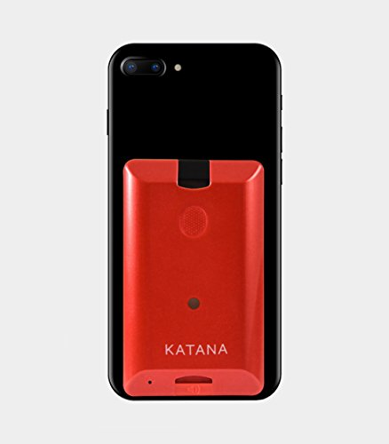 Katana Safety Arc: The Personal Security System That Attaches Directly to Your Smartphone. Includes 1 Free Month of the 24/7 Katana Response Center Service. (Ruby Red)