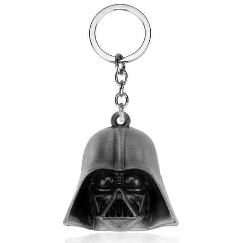 Movie Star Wars Llavero titular Spaceship Yoda Robot Darth Vader modelo de metal KeyRing 23silver regalo de Keychain del niño