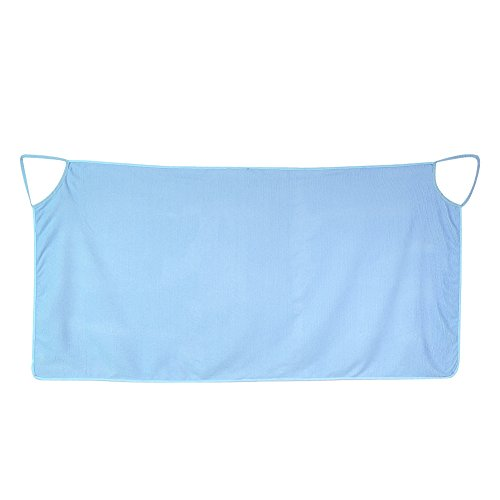 Yosoo Toallas de Baño Toalla Ducha Piscina Playa SPA Mujer Correas de Hombro Dobles Microfiber Súper Suave Blanco Azul Púrpura(Azul)