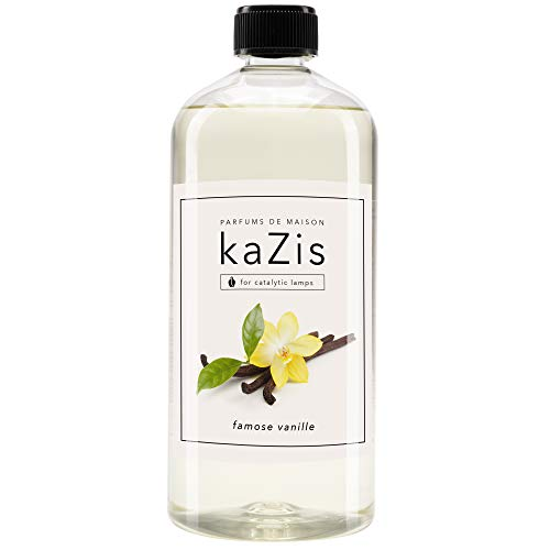 KAZIS® I Famose Vanille I Für Alle Katalytischen Lampen I Raumduft I Parfums De Maison I Nachfüll-Öl (Refill) I 1000 ml I 1 Liter I Blumig I Lampe Berger geeignet