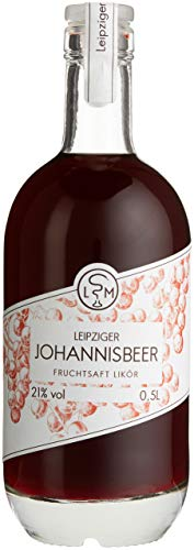 Leipziger Johannisbeer Fruchtsaftlikör | fruchtig aromatisch | 21% vol | LSM Leipziger Spirituosen Manufaktur (1 x 0.5 l)