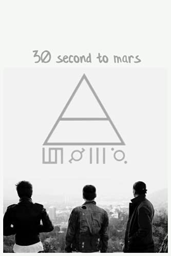 30 second to mars: Notebook With Elegant Cover - 6x9 Inches - Fill It Up With Your Creative Ideas!
