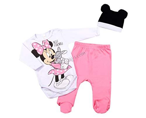 Svetli - Conjunto de ropa de bebé de 3 piezas para niña, manga larga, de algodón Rosa. 68 cm-6...