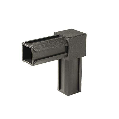 GAH-Alberts 426361 XD-Rohrverbinder | 90° | Kunststoff, schwarz | 20 x 20 x 1,5 mm | 10er Set