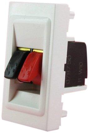 Legrand flexibele luidspreker voor kabels tot 4 mm2, voor het inbouwen van mozaïek 1 module wit