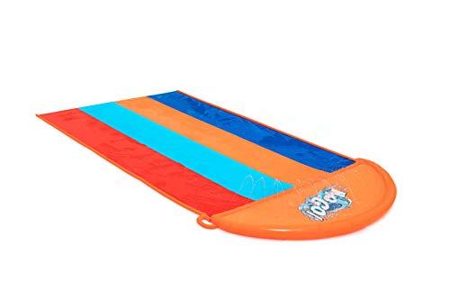 Bestway H2OGO! 16' Quadruple Inflatable Water Slide   Includes Speed Ramp & Splash Landing   Great Outdoor Summer Toy for Family Fun
