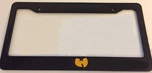 RNUAB WuTang Style - Automotive Black with Yellow License Plate Frames - Ghangsta Biggie Metal 12' X 6' Inch