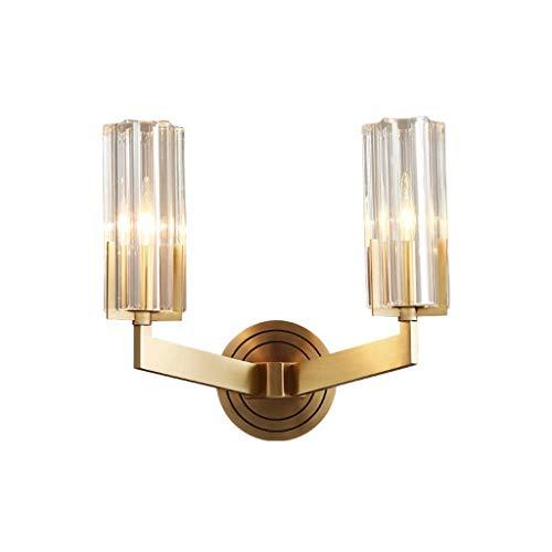 LBMTFFFFFF Lámpara Apliques de Pared Poste de Lámpara de Pared Luz Moderna Lámpara de Dormitorio de Vidrio de Lujo Pasillo Todas Las Lámparas de Re