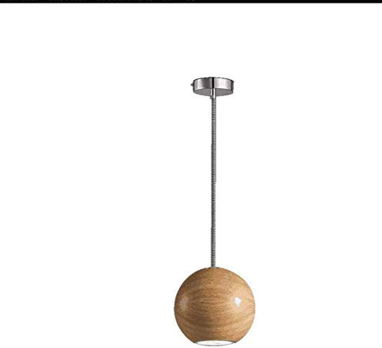 Lüster Led Deckenlampe Einzelne Hauptlinie 3W Fisch-Linie Hngende Lampe, Handgemachter Hlzerner Schatten, Verwendbar Für Schlafzimmer-Wohnzimmer-Warmes Licht, 110-240V, S