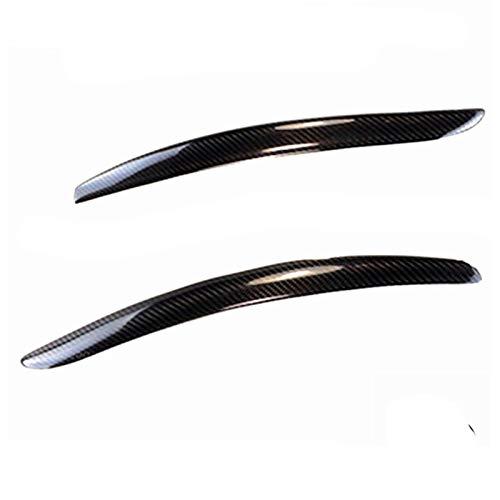 HTSM Car Headlight Eyebrows Sticker A Pair Headlight Lid Eyebrow EyeLids Carbon Fiber Eyelids Trim Cover for BMW E92 E93 335I 335CI Model 2007 2008 2009 2011 2012