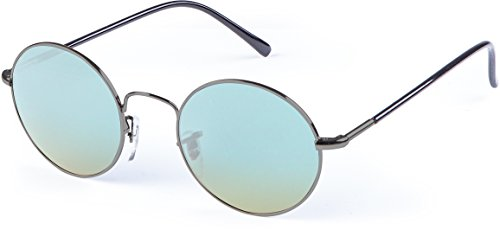 MSTRDS Unisex Flower Sonnenbrille, Grau (Gun/Blue 5157), (Herstellergröße: one Size)