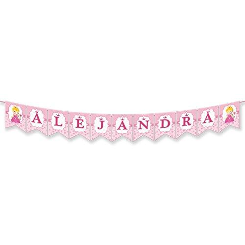 EuroFiestas Guirnalda Nombre Alejandra, Andrea, Ana, Ara, Ada, Adela o Jana