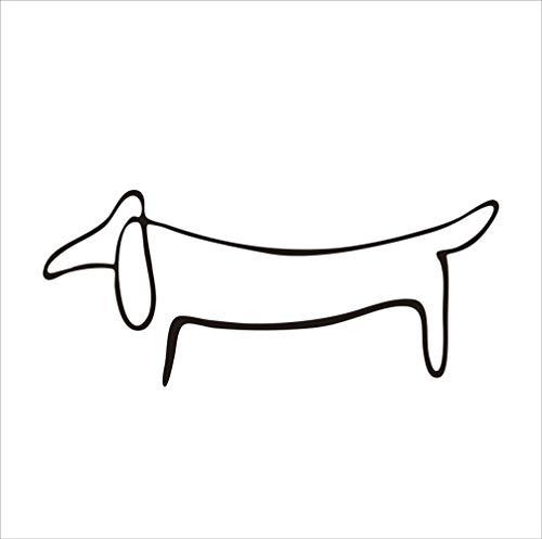 JXAA Dackel Weiner Hund Vinyl Aufkleber Picasso Art Love Decals Für Autofenster Dekoration 13x6 cm