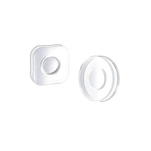 ErYao Nano Gel Pad Traceless Magic Stickers, Magic Nano Sticker Pad Double Sided Nano Gel Pad for Car, Cell Phone Holder, 2Pcs (White)