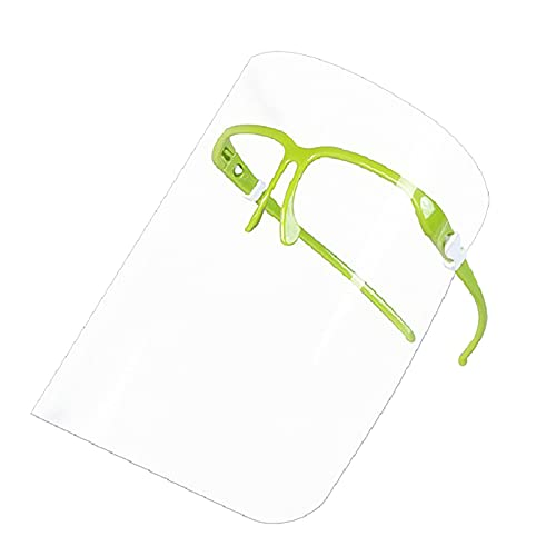 Mothcattl Face Cover Smooth Eye Protection Glasses Facial Visor Easy To Clean Multi-Use Light Green