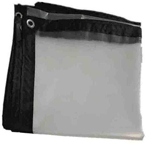 Hoja de lona lona Muebles Caravana Barco Cubierta Cubierta a prueba de lluvia Suministros claro de cristal a prueba de agua PE Hoja Lona lona cubierta de tierra 100GSM transparente lona (Color: Claro,
