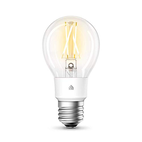 TP-Link KL50 Kasa Ampoule connectée WiFi à Filament, Ampoule Led E27, 7W, Compatible avec Amazon Alexa, Google Home et IFTTT, Blanc Doux Dimmable, Contrôle à distance par App, Aucun hub requis