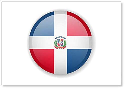 Kühlschrankmagnet, Motiv Dominikanische Republik Flagge, r&