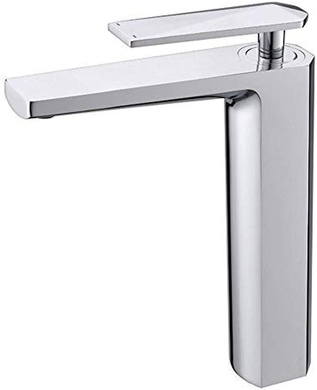 Hjbds moderne waschbecken wasserhahn, waschbecken heien und kalten wasserhahn einlochmontage waschbecken wasserhahn (farbe  silber)