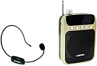 GEEPAS RECHARGEABLE MINI SPEAKER WITH WIRELESS MICROPHONE - GMP15012