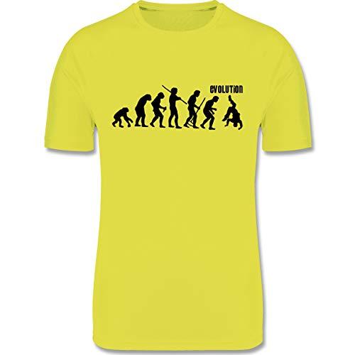 Evolution Kind - Evolution Hip Hop - 152 (12/13 Jahre) - Neon Gelb - Breakdance - F350K - atmungsaktives Laufshirt/Funktionsshirt für Mädchen und Jungen