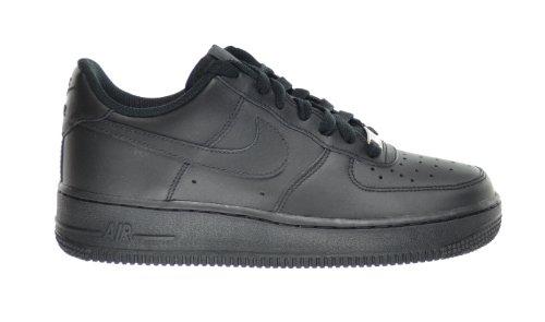 Nike Air Force 1 (GS) Big Kids Sneakers, Schwarz, 314192-009, Schwarz (schwarz), 37 EU