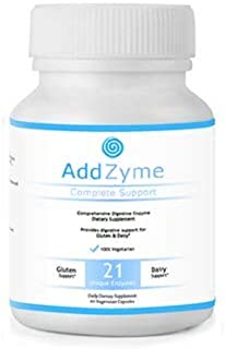 AddZyme Digestive Enzymes - Supports Better Digestion and Lactose Absorption - Bloating, Constipation, and Gas Relief - 60 Capsules - 21 High Quality Digestive Enzymes - Lipase Amylase + Bromelain