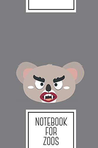 Notebook for Zoos: Lined Journal with Koala vampire head Design - Cool Gift for a friend or family who loves wild presents! | 6x9' | 180 White lined ... Brainstorming, Journaling or as a Diary