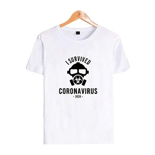 Daryi Coronavi-rus Survivor T-Shirt Fun Gifts for COV-ID 19 Vi-rus Influenza Patients Doctors Nurses Healthcare Doctors-Neutral Tee (Color : White, Size : XXXL)