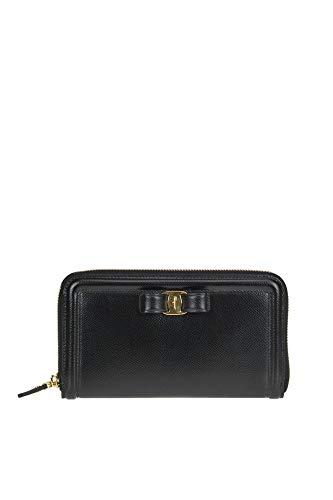 Salvatore Ferragamo Luxury Fashion Donna MCGLACR000006002I Nero Portafoglio | Stagione Outlet