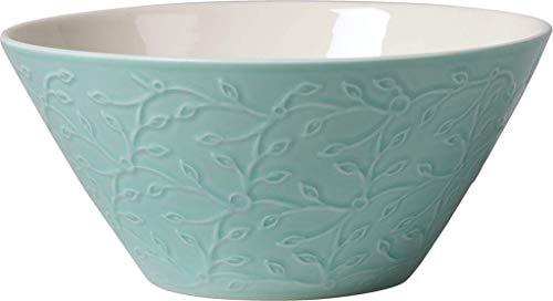 Villeroy & Boch Caffè Club Floral Touch of Ivy Petit bol, 750 ml, 16,4 cm, Porcelaine Premium, Turquoise