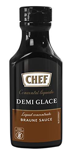 CHEF Flüssiges Konzentrat Demi Glace, Geschmacksboost für Herzhafte Gerichte, 100% Natürlicher Geschmack, 1er Pack (1 x 200ml)