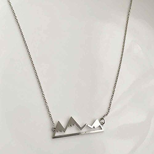Jovono Fashion Necklace with Mountain Pendant for Birthday Friendship Jewelry Mothers Day Gift (Silver)