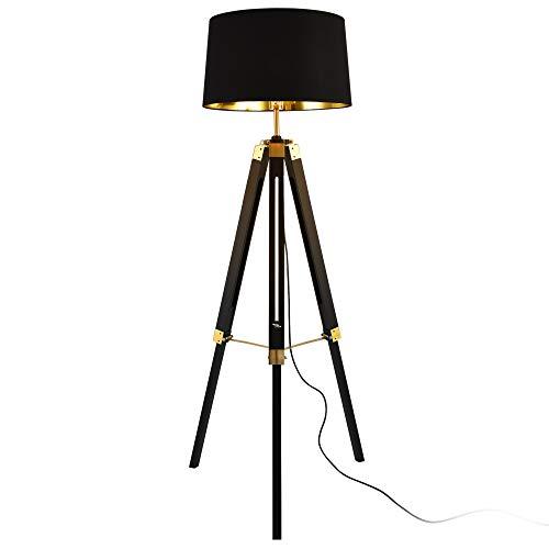 [lux.pro] Tripod lamp - Karlsbad - zwart en messing