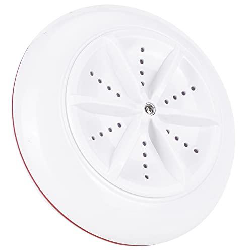 Demeras Lavadora de lavandería ABS USB Peso ligero ultrasónico rojo portátil Lavadora Mini para ropa de bebé para el hogar, dormitorio