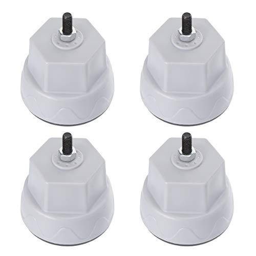 OSALADI Waschmaschine Beinpolster Anti-Walk-Waschmaschine Füße Waschmaschine Stoßdämpfermatte für Zuhause Grau