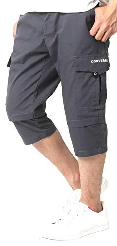 [コンバース] カーゴパンツ 7分丈 ショートパンツ 七分丈 無地 イージーパンツ メンズ チャコール M